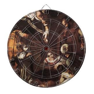 Caravaggio - St. Francis及びセントローレンスとの出生 ダーツボード