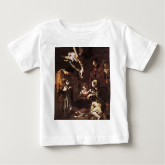 Caravaggio - St. Francis及びセントローレンスとの出生 ベビーTシャツ