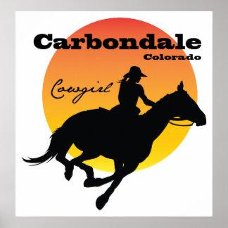 Carbondaleの女性のカーボーイ ポスター