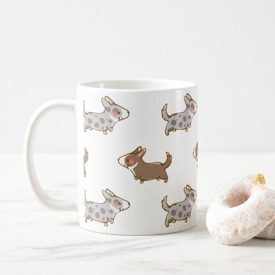 cardigan welsh corgi 手描き柄 コーヒーマグカップ