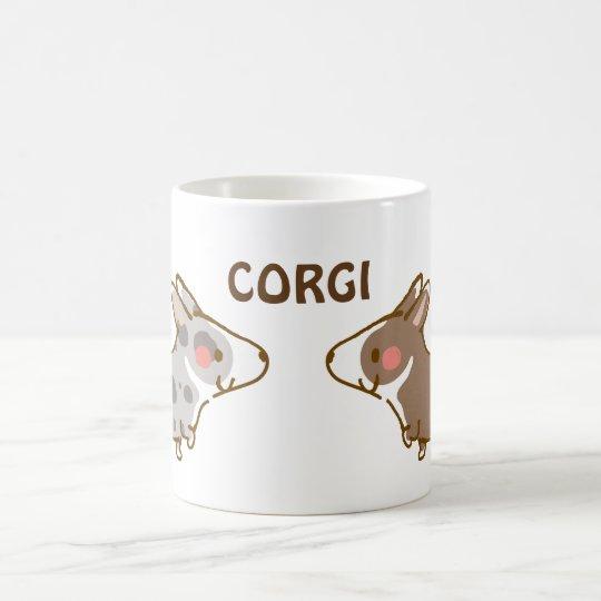 cardigan welsh corgi 手描き コーヒーマグカップ