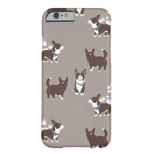 cardigan welsh corgi 花柄 barely there iPhone 6 ケース