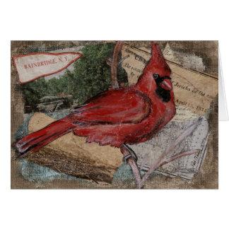 Cardinal Bird painting カード