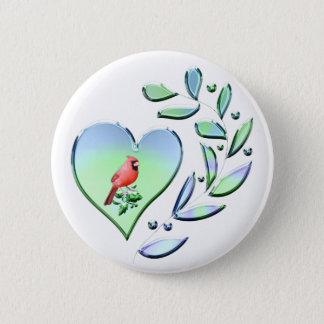 Cardinal Lover 5.7cm 丸型バッジ
