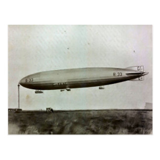 Cardingtonの飛行船R33 ポストカード
