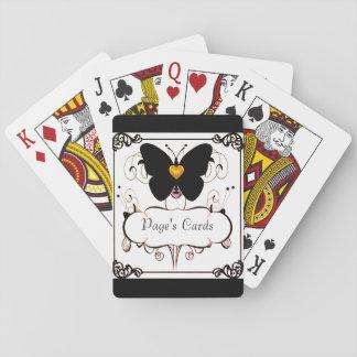 Cards-Template_Gold-Heartを遊ぶこと--蝶 トランプ