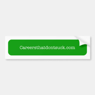 careersthatdontsuck.comのバンパーステッカー バンパーステッカー