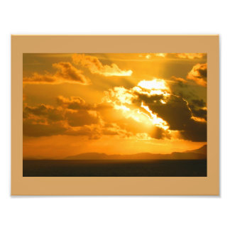Caribeanの日没-写真のプリント フォトプリント