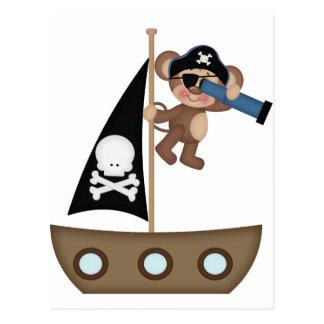 Caribeanの海賊の猿 ポストカード