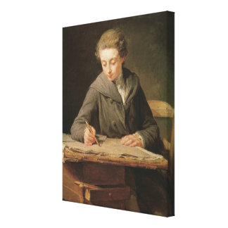 Carle Vernet 1772年、若いdraughtsman キャンバスプリント
