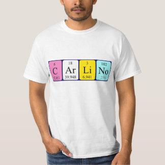 Carlinoの周期表の名前のワイシャツ Tシャツ