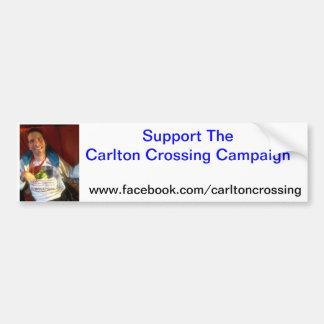 Carltonの交差車のステッカー バンパーステッカー