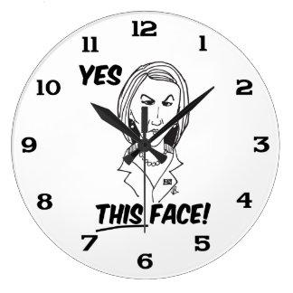 Carly FiorinaのYesこの顔 ラージ壁時計
