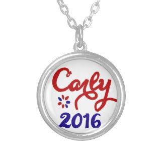 Carly Fiorina 2016の政治サポート シルバープレートネックレス