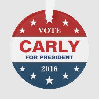 Carly Fiorina 2016年の大統領のなキャンペーン表記 オーナメント