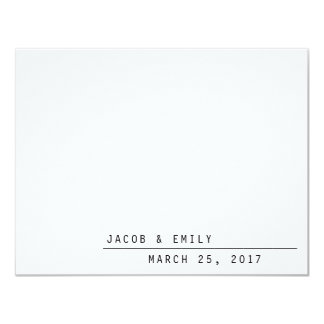Carly Modern Thank you card カード