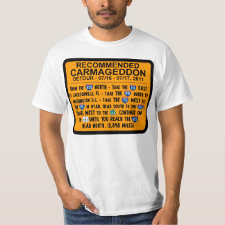 Carmageddon -推薦された回り道 tシャツ