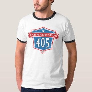 Carmageddon 405の高速道路のロサンゼルスのTシャツ Tシャツ