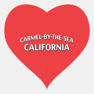Carmelによ海カリフォルニア ハート形シールステッカー