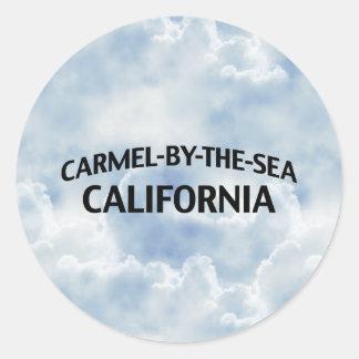 Carmelによ海カリフォルニア 丸形シールステッカー