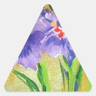 Carmelの庭63 三角形シールステッカー