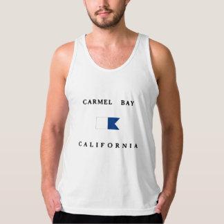 Carmel湾カリフォルニアアルファ飛び込みの旗 タンクトップ