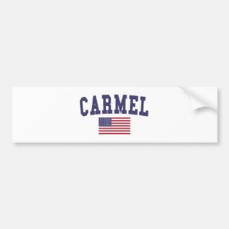 Carmel米国の旗 バンパーステッカー