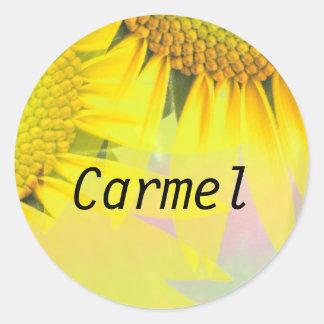Carmel 丸形シール・ステッカー