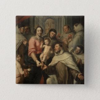 Carmelitesのヴァージン 5.1cm 正方形バッジ