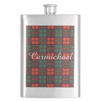 Carmichaelの一族の格子縞のスコットランドのキルトのタータンチェック フラスク