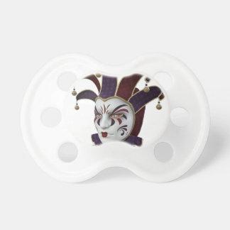 Carnivaleのあずき色および紫色のベニス風のマスク おしゃぶり