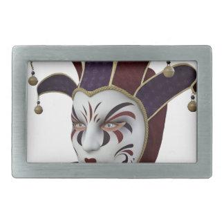 Carnivaleのあずき色および紫色のベニス風のマスク 長方形ベルトバックル