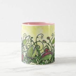 Carnivourousの植物-マグ ツートーンマグカップ