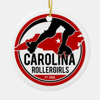 Carolina Rollergirls Holiday Ornament セラミックオーナメント