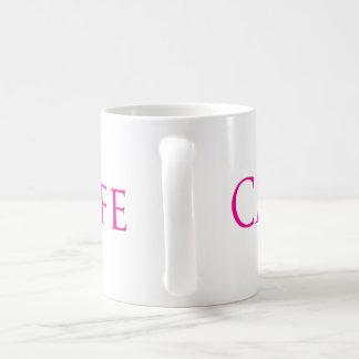 Carpeのカフェのピンクのフォント コーヒーマグカップ