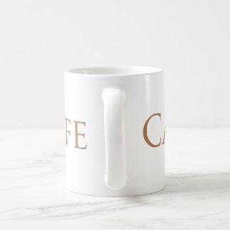 Carpeのカフェの薄茶のフォント コーヒーマグカップ