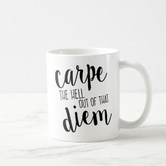 Carpe Diemのそのおもしろマグカップからの経糸ガイド コーヒーマグカップ