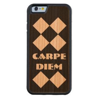 Carpe Diemのダイヤモンドのブラックチェリー木 CarvedチェリーiPhone 6バンパーケース