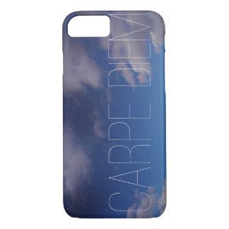 Carpe Diemの携帯電話の箱の銀河系の空のグラデーションな雲 iPhone 8/7ケース
