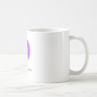 Carpe Diemの紫色の花 コーヒーマグカップ