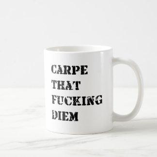Carpe Diem コーヒーマグカップ