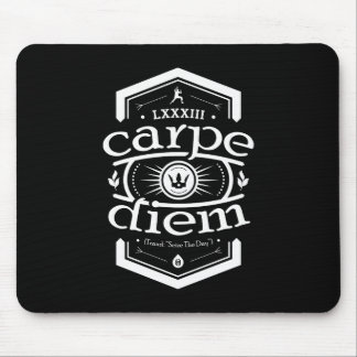 Carpe Diem -マウスパッド-黒 マウスパッド