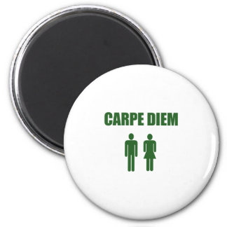 Carpe Diem (緑の文字の男の子及び女の子) マグネット