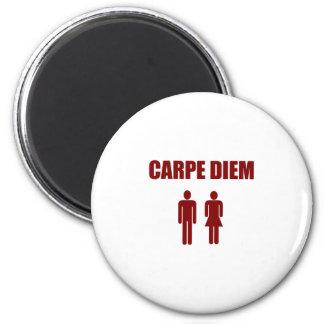 Carpe Diem (赤い文字の男の子及び女の子) マグネット