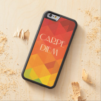 Carpe Diem CarvedメープルiPhone 6バンパーケース