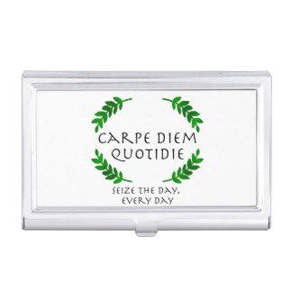Carpe Diem Quotidie -日を、毎日握って下さい 名刺入れ