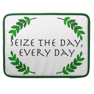 Carpe Diem Quotidie -日を、毎日握って下さい MacBook Proスリーブ