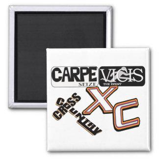 CARPE VICIS -イベントのラテン系のクロス・カントリーを握って下さい マグネット