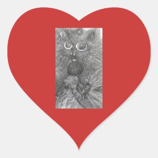 """""""CarrahのcfwによるSinginの子猫""""のファンタジーの芸術 ハートシール"""