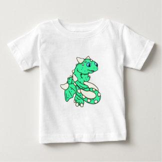 Carrieミハエル著真新しい緑ドラゴン ベビーTシャツ